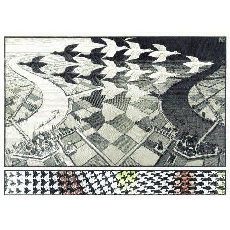 Puzzle jour et nuit Escher