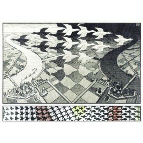 Puzzel  day and night Escher