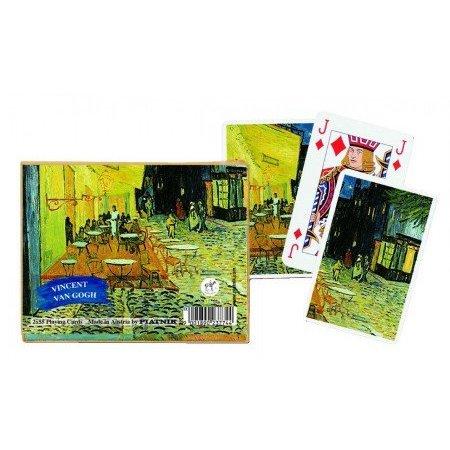Vincent van Gogh Café Terrasse à la nuit Cartes à jouer - Double Deck