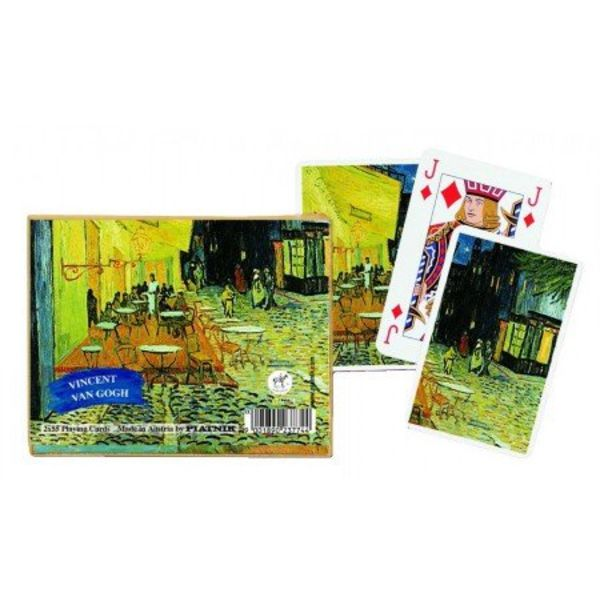 Vincent van Gogh Café Terrace at Night Playing Cards - Double Deck