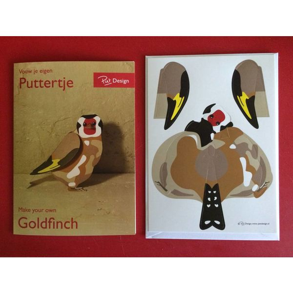 The Goldfinch Double card + envelope