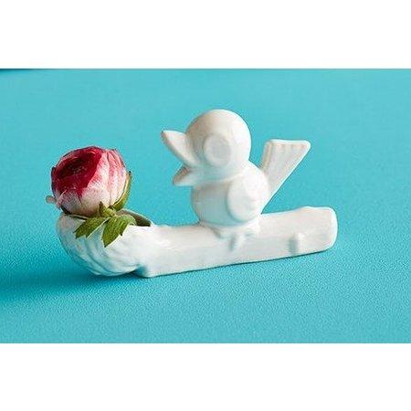 Blumen-Dieb-Vase weiß