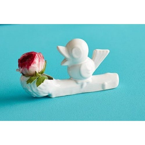 Flower thief vase white