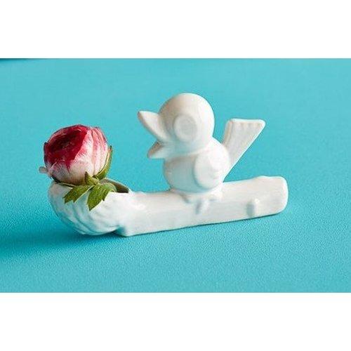 Vase fleur blanc