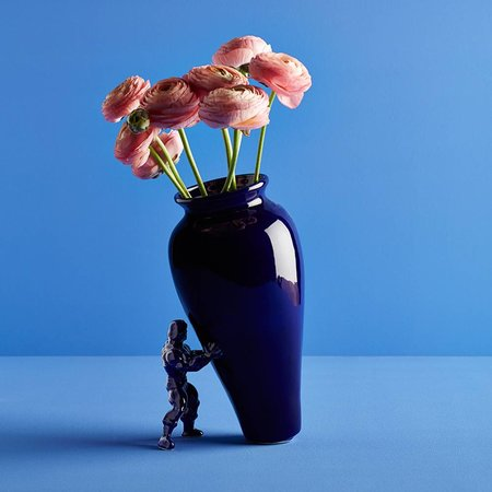 Unique vase with superhero