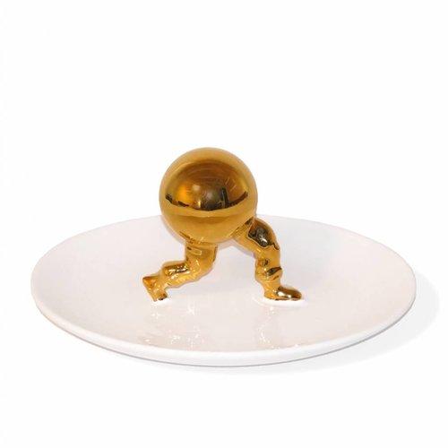 The host serving dish 12 x 24 x 24 cm