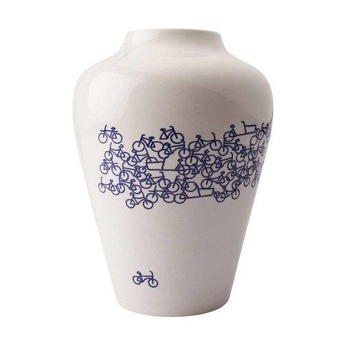 Le vase à vélo bleu de Delft