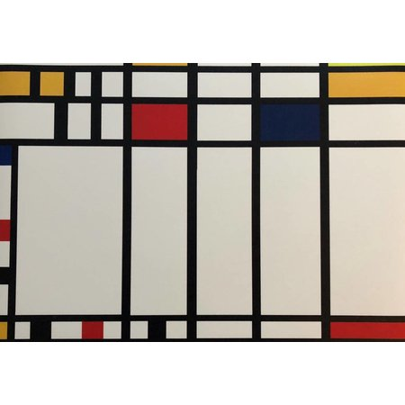 Placemat vinyl with Mondrian print