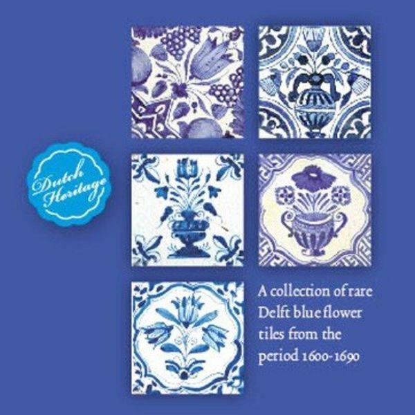 Carte cartes Delft bleu