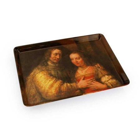 Dienblad met het Joods bruidje van Rembrandt