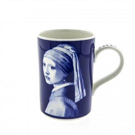 Becher Delft blue Girl mit der Perle