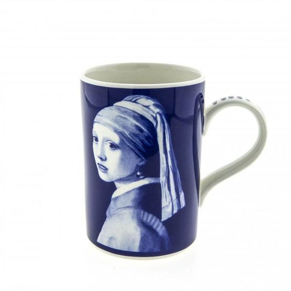 Mok Delfts blauw Meisje met de parel