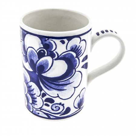 Mug with Delft blue flower