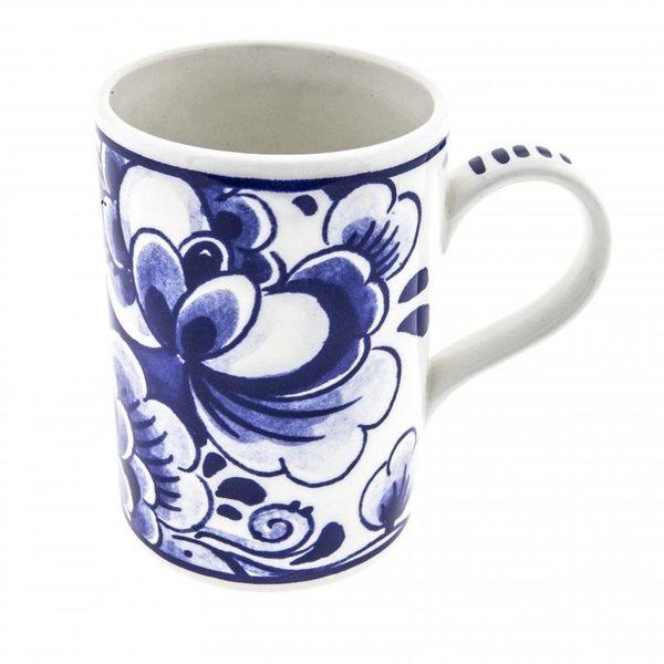 Mug with Delft blue flower