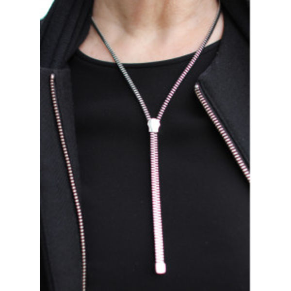 Zipper chain silver
