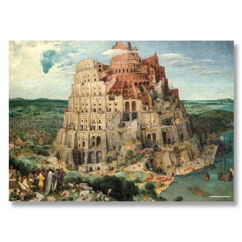 Poster De toren van babel van Bruegel