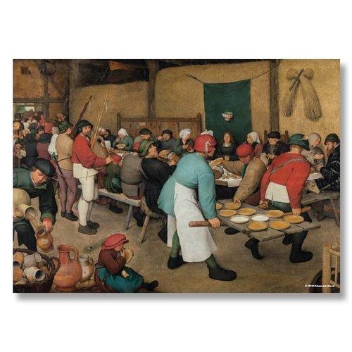 Poster Die Hochzeit der Bauern von Bruegel
