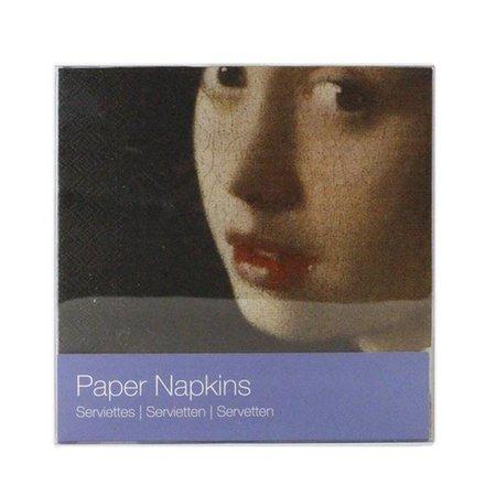 """Serviettes """"Fille à la perle"""" de Vermeer"""