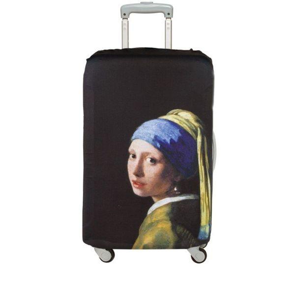 """Housse de valise """"Fille à la perle"""""""