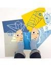 Picasso-Fußasso-Socken