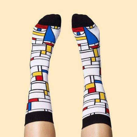Mondriaan gesprächige Socken