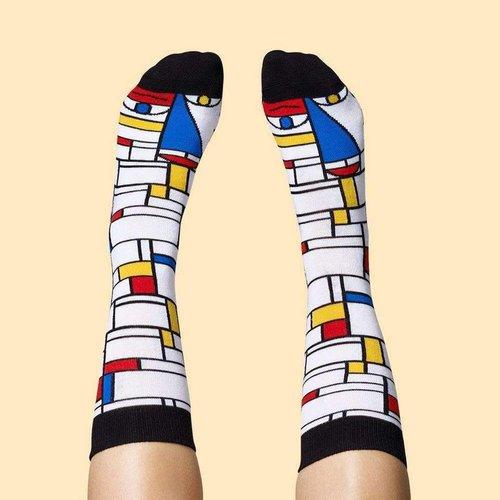 Füße Mondrian gesprächig Socken