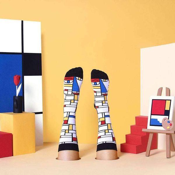 Chaussettes Mondriaan Chatty
