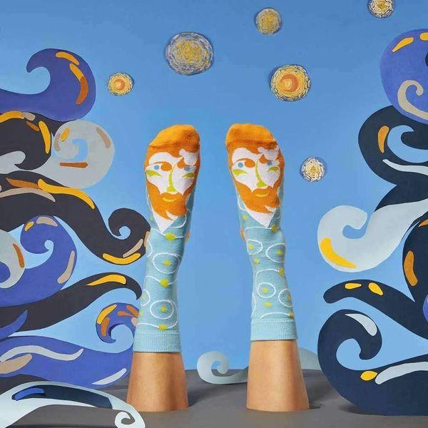 van Gogh gesprächige Socken