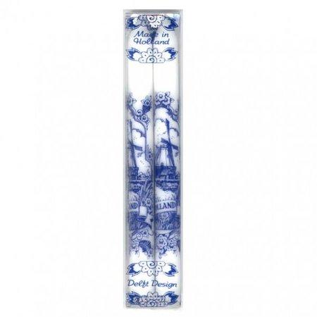 Set de 2 bougies Delft Delft bleu