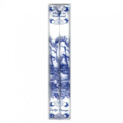 Set of 2 Delft Delft blue candles