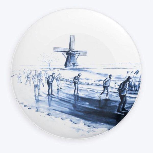 Elfstedentocht plate Delft blue