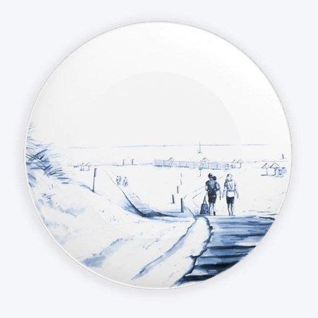 Strandplatte Delft blau