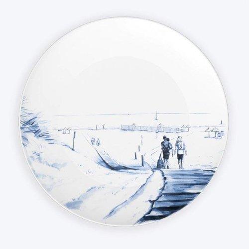 Strand bord Delfts blauw