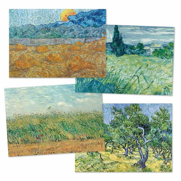 48 sets de table en papier Van Gogh
