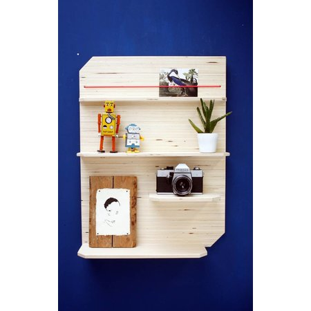 Wall rack for favorite souvenirs
