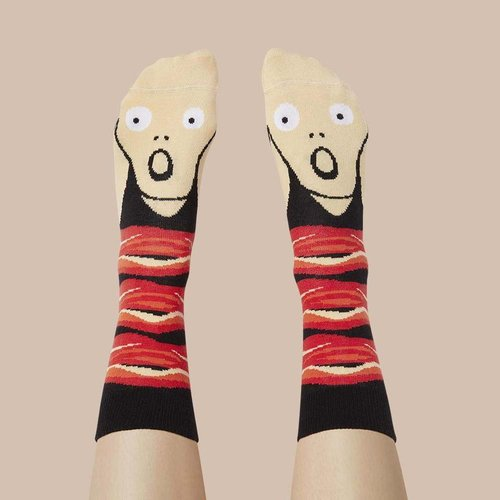 Chaussettes Screamy Ed de ChattyFeet