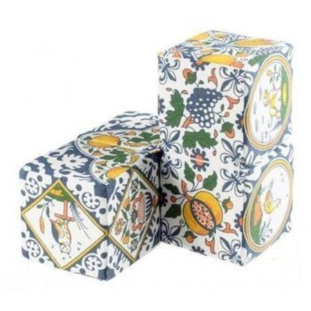 Gratis bij uw bestelling! Speel kubus met afbeeldingen van oud  Hollandse tegels