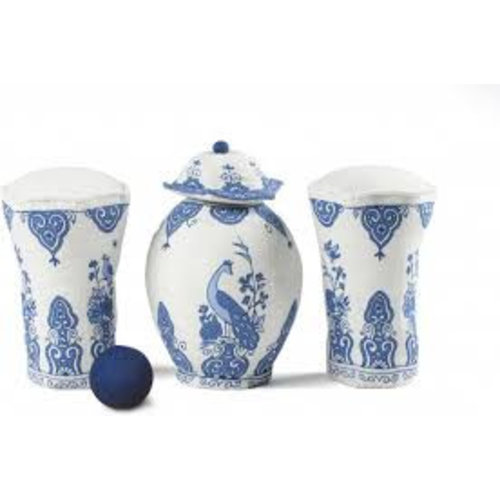 Bowling game of old Dutch cabinet set
