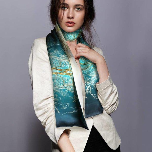 "Rijksmuseum silk scarf ""Hercules Segers"""