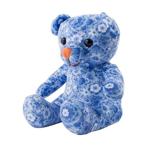 Delft blue teddy bear