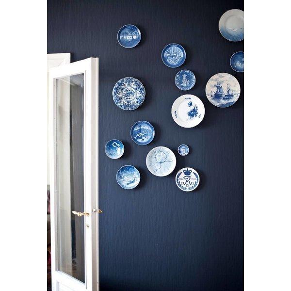 Bord met grachtenpanden Delfts blauw 25cm