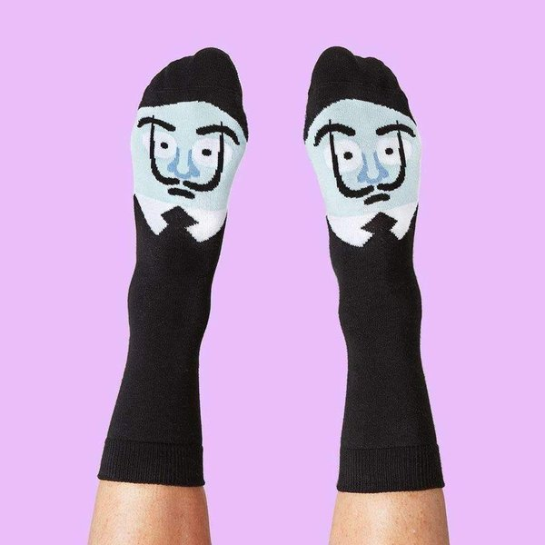 Moderne kunstenaar sokken geschenkdoos