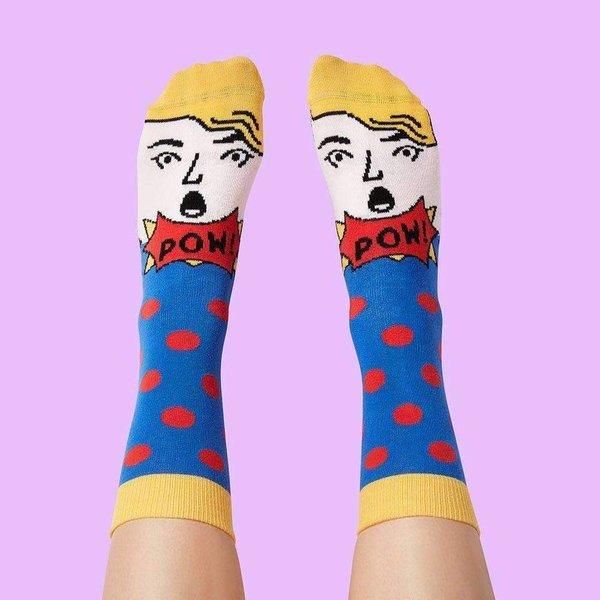 Coffret cadeau chaussettes d'artiste moderne de Chatty Feet