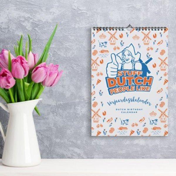 Typischer holländischer Geburtstagskalender