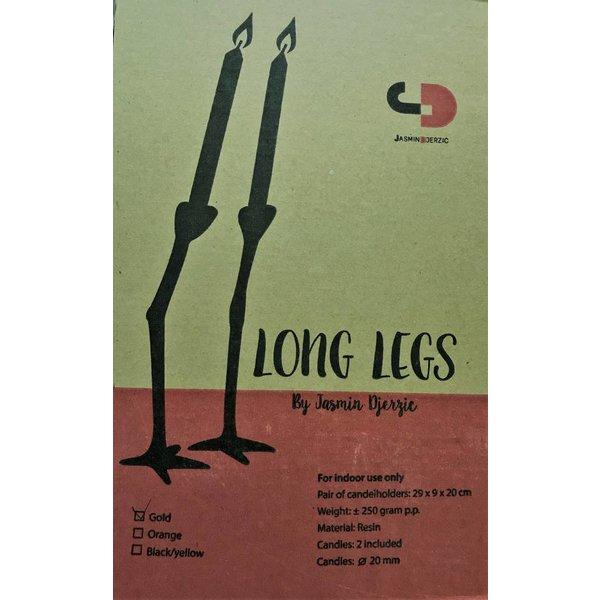 High legs candlesticks gold