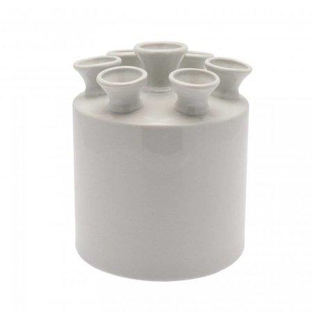 Tulpenvaas cilinder  wit