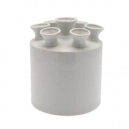 Tulip vase cylinder white