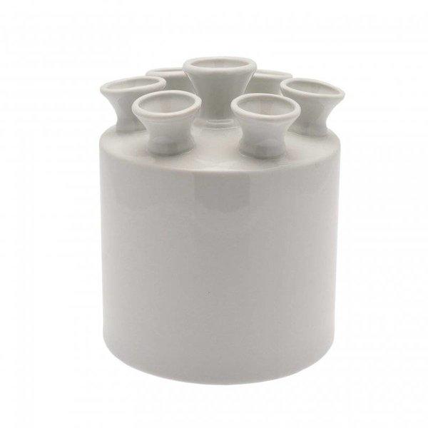 Tulip Vase Zylinder weiß