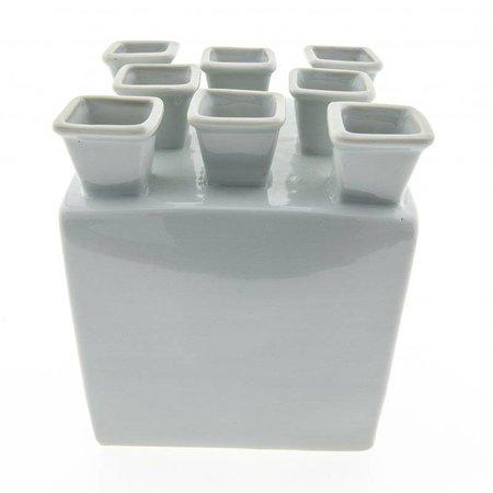 Quadratischer Delfter Tulpenvase