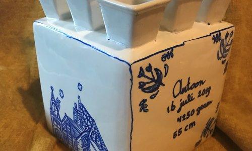 Maak je eigen Delfts Blauwe tulpenvaas